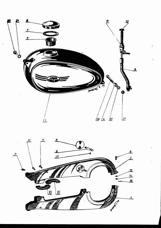 Katalog náhradních dílů Jawa-ČZ 250/353.04 a 350/354.04