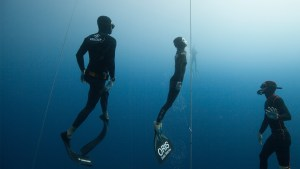 An image of 3 snorklers