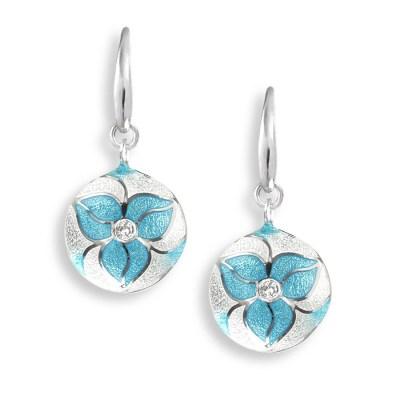 Nicole Barr Silver, Enamel & White Sapphire Earrings