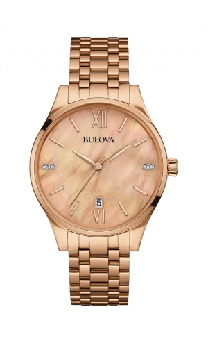 Bulova Mop And Diamond Dial Watch