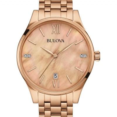 Bulova Mop And Diamond Dial Watch