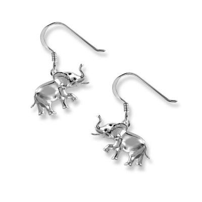 Nicole Barr Sterling Silver Elephant Earrings