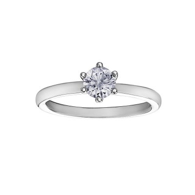 18ct While Gold Diamond Ring – Maple Leaf Diamond