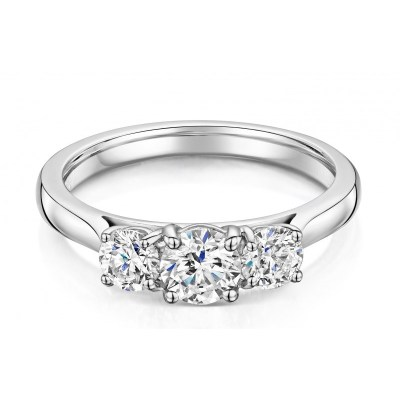 Platinum 3 Stone Diamond Ring