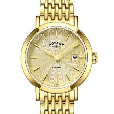 Rotary Ladies Gold Plated Bracelet Windsor Watch