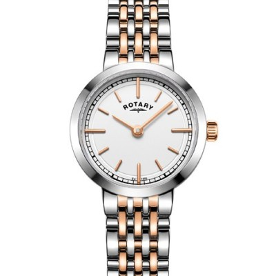 Rotary Ladies Two Tone Rose Gold Canterbury Watch