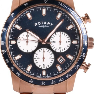 Gents Rose Gold Chronograph Watch