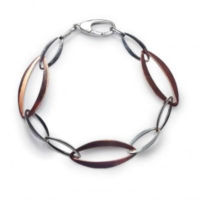 9ct White & Rose Gold Bracelet