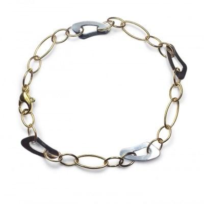 9ct Yellow & White Gold Bracelet