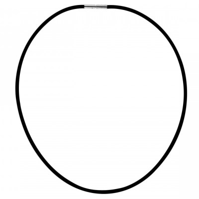 Black Rubber Necklace / Choker 17″
