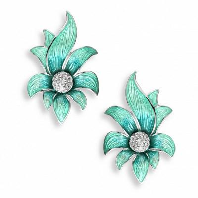 Nicole Barr Silver & Enamel Earrings