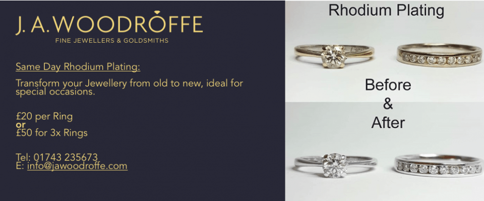Image highlighting service to rhodium plate your jewellery