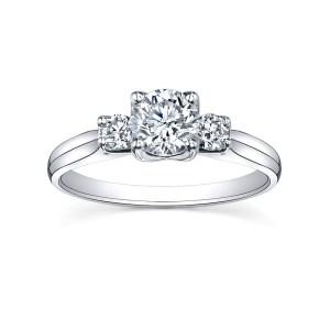 18Ct While Gold Diamond Ring – Maple Leaf Diamonds