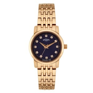 Rotary Sloane Rose Gold Plated Ladies Watch