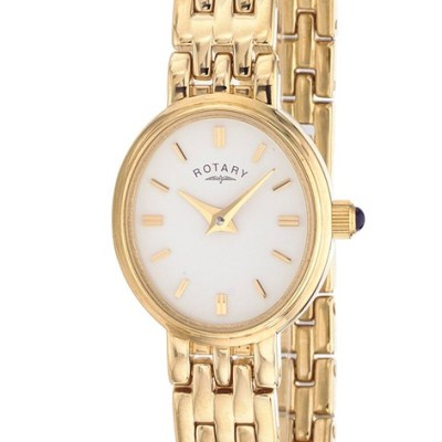 Rotary Timepieces Ladies Gold-Plated Case Watch