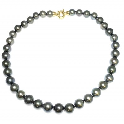 Tahitian South Sea Black Pearls Necklace