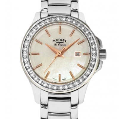 Rotary Ladies Mother Of Pearl Watch