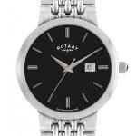 Gents Rotary Date Brick Link Bracelet Watch