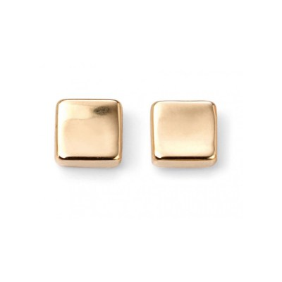 9ct Yellow Gold Cube Stud Earring