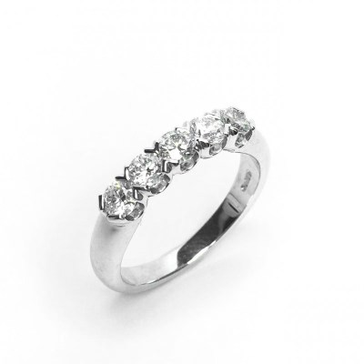 Platinium 5 Stone Diamond Eternity Ring