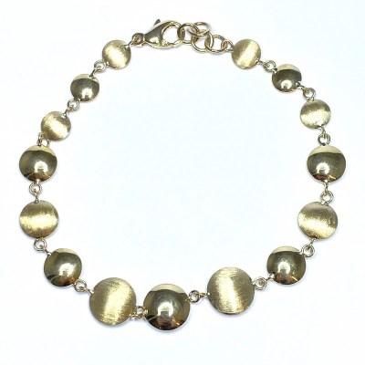 9ct Yellow Gold Disc Bracelet