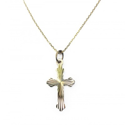 9ct Yellow Gold Cross & Chain