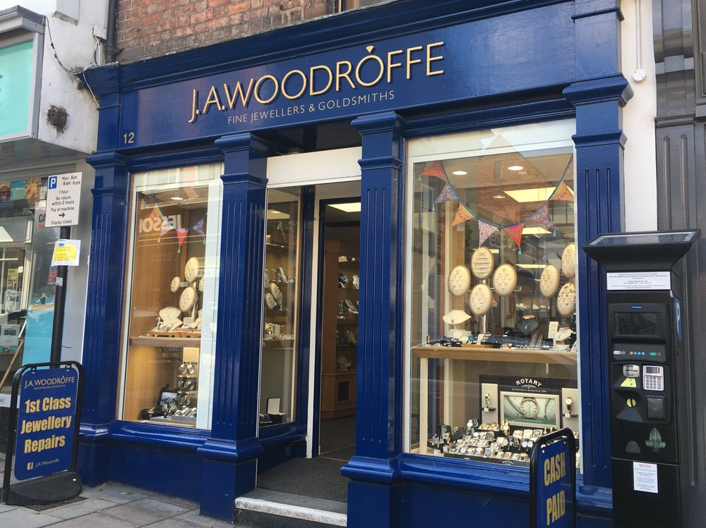 Image of the shop front of J.A.Woodroffe Jewellers