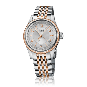 An image of an Oris mens stainless steel watch