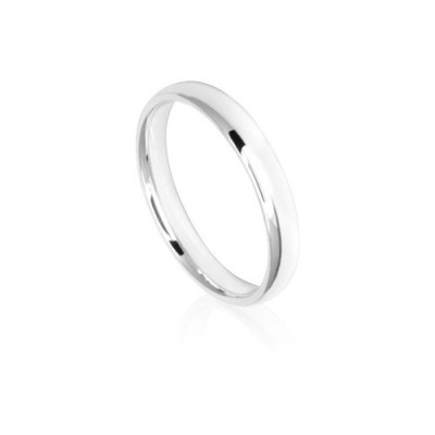 3mm Classic White Gold Wedding Ring Band