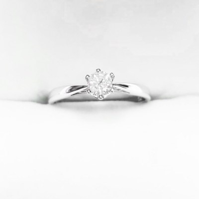 Second Hand Solitaire Diamond Ring in 18ct White Gold, 0.25ct