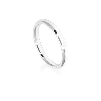 2.5mm Low Dome Comfort Fit Wedding Ring Band