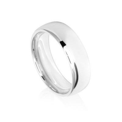7mm Low Dome Comfort Fit Wedding Ring Band