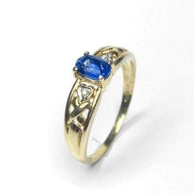 Second Hand Sapphire Ring in 9ct Yellow Gold