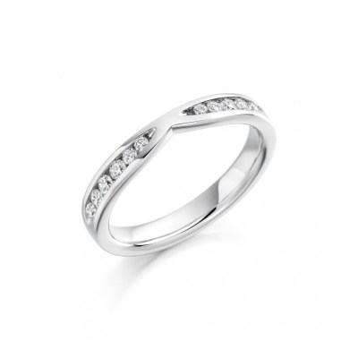 Cut Out Half Eternity Ring, 0.37ct