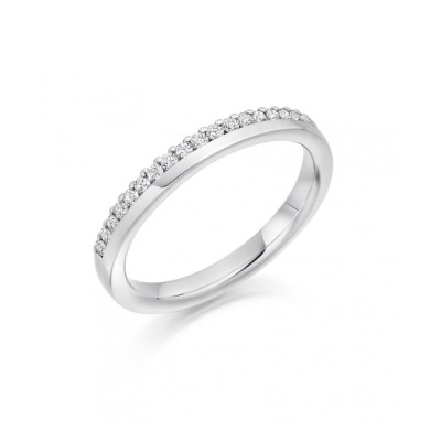 Brilliant cut Diamond Half Offset Diamond Wedding Ring, 0.22ct