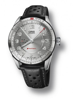 An image of an Oris Audi Sport GMT watch front facing