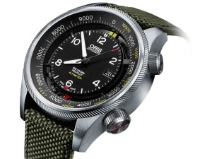 An image of the Oris Automatic Big Crown Pro Pilot Altimeter watch showing the front face at a slight angle