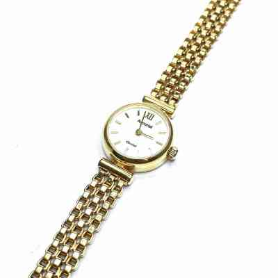 Second Hand 9ct Yellow Gold Accurist Wrist Watch