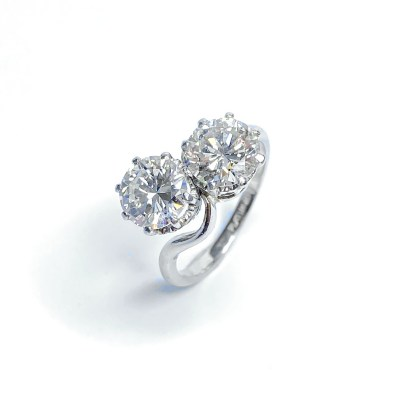Second Hand Platinum 2 Stone Diamond Ring