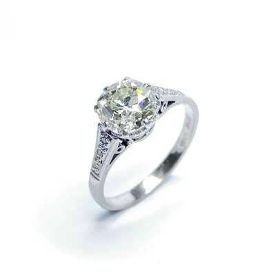 Second Hand 18ct White Gold & Platinum Diamond Ring