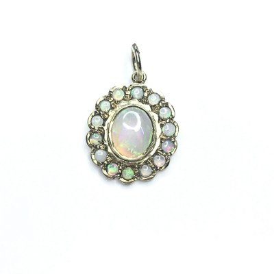 Second Hand 9ct Yellow Gold Opal Pendant