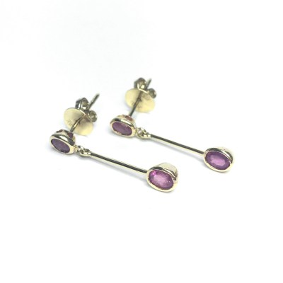 Second Hand 18ct Yellow Gold Ruby Earrings