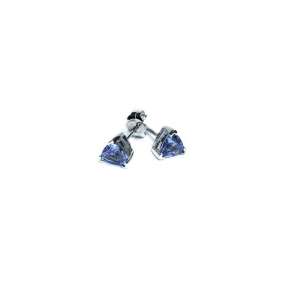 Second Hand 14ct White Gold Tanzanite Earrings