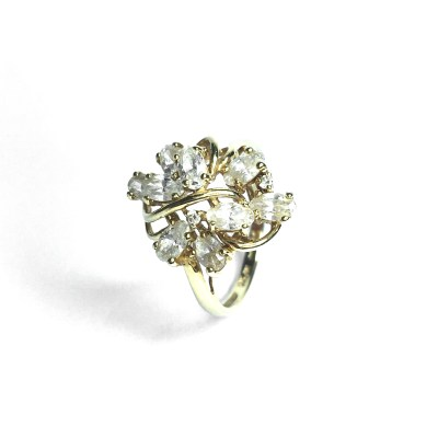 Second Hand 14ct Yellow Gold Cubic Zirconia Ring