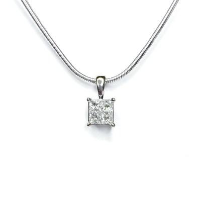 Second Hand 18ct White Gold Diamond Pendant