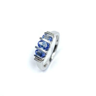 Second Hand 14ct White Gold Tanzanite & Diamond Ring