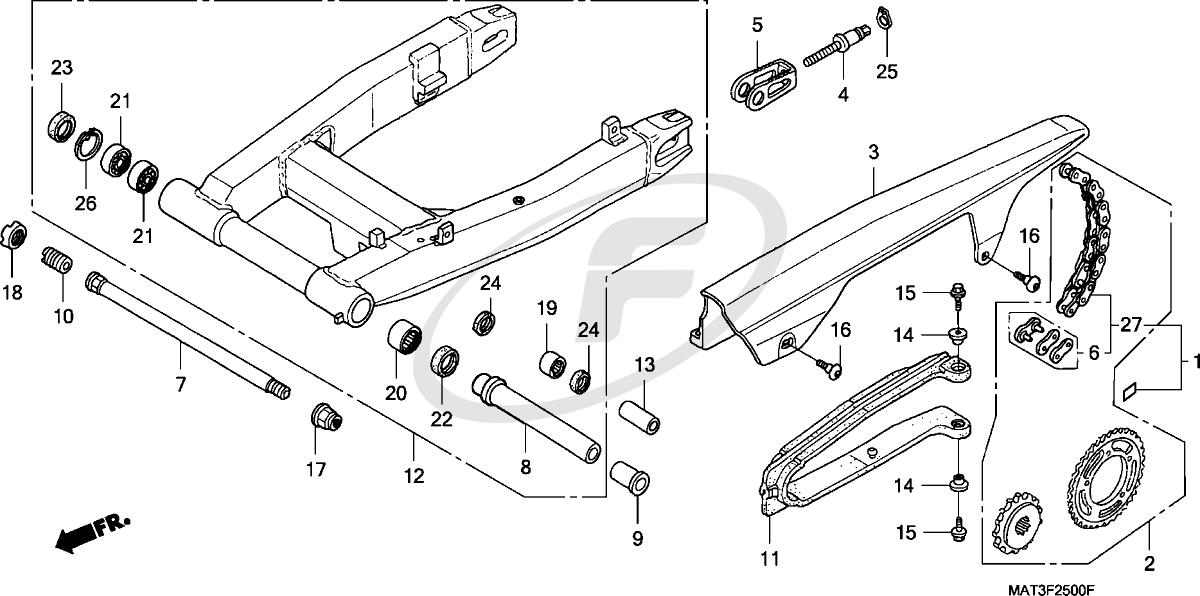 Honda Blackbird CBR1100XX 97-98 Swing Arm Repair Kit