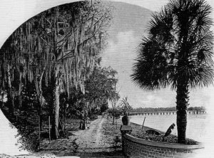 The winter home of the Mitchells, along the banks of the St. Johns River.