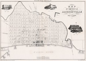 A map of Jacksonville in 1859, five years after Red Bank was built. credit: Florida Heritgage Collection
