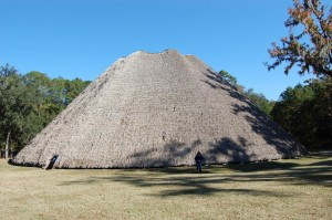 A reconstruction of an Indian council house, located at Mission San Luis in Tallahassee.